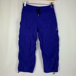 Royal Blue Lululemon Cropped Workout Pants